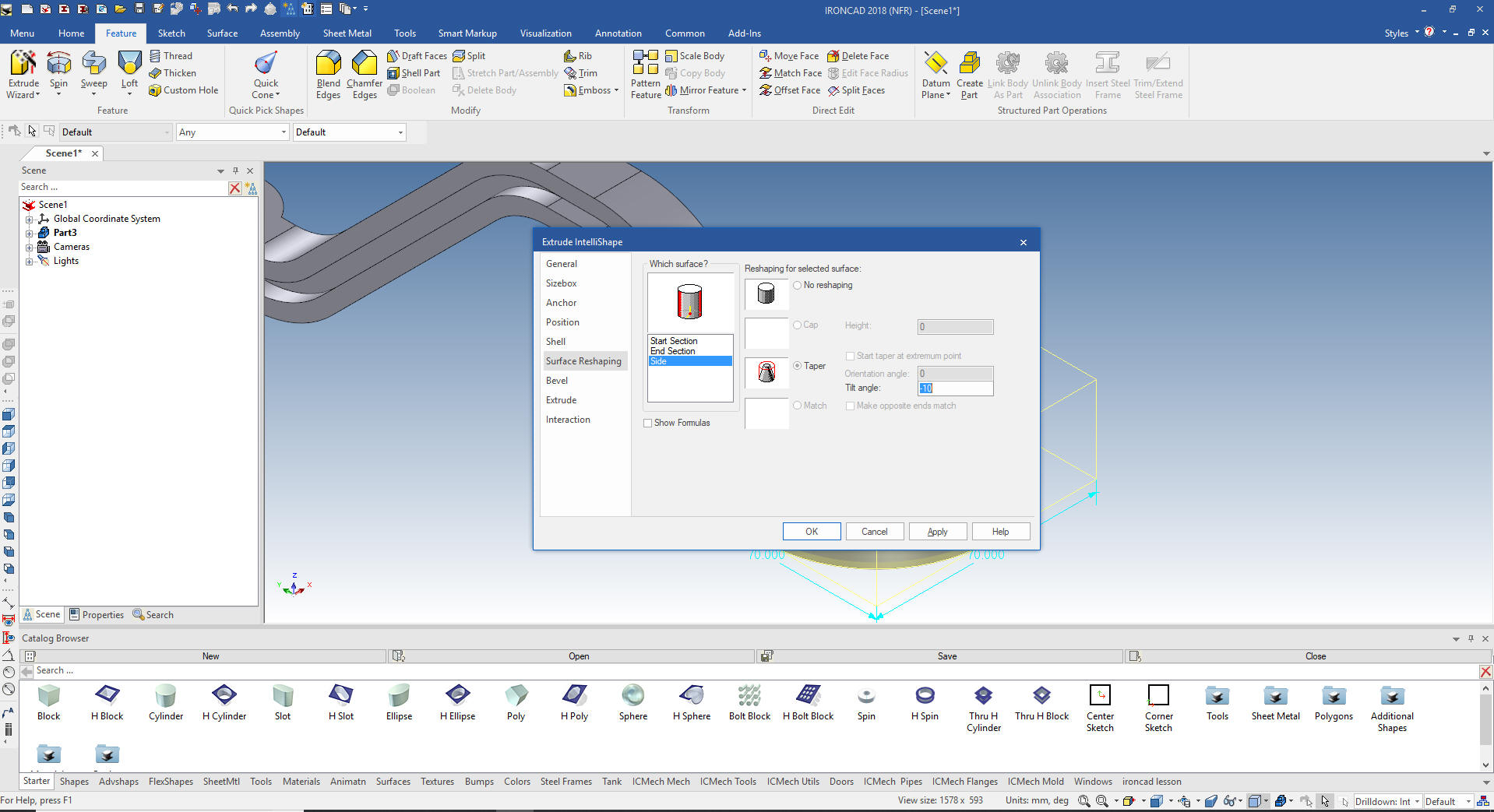 IronCAD vs Solidworks Lesson Six