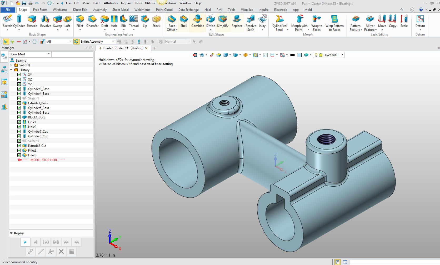 3D Modeling Techniques ZW3D Lesson One