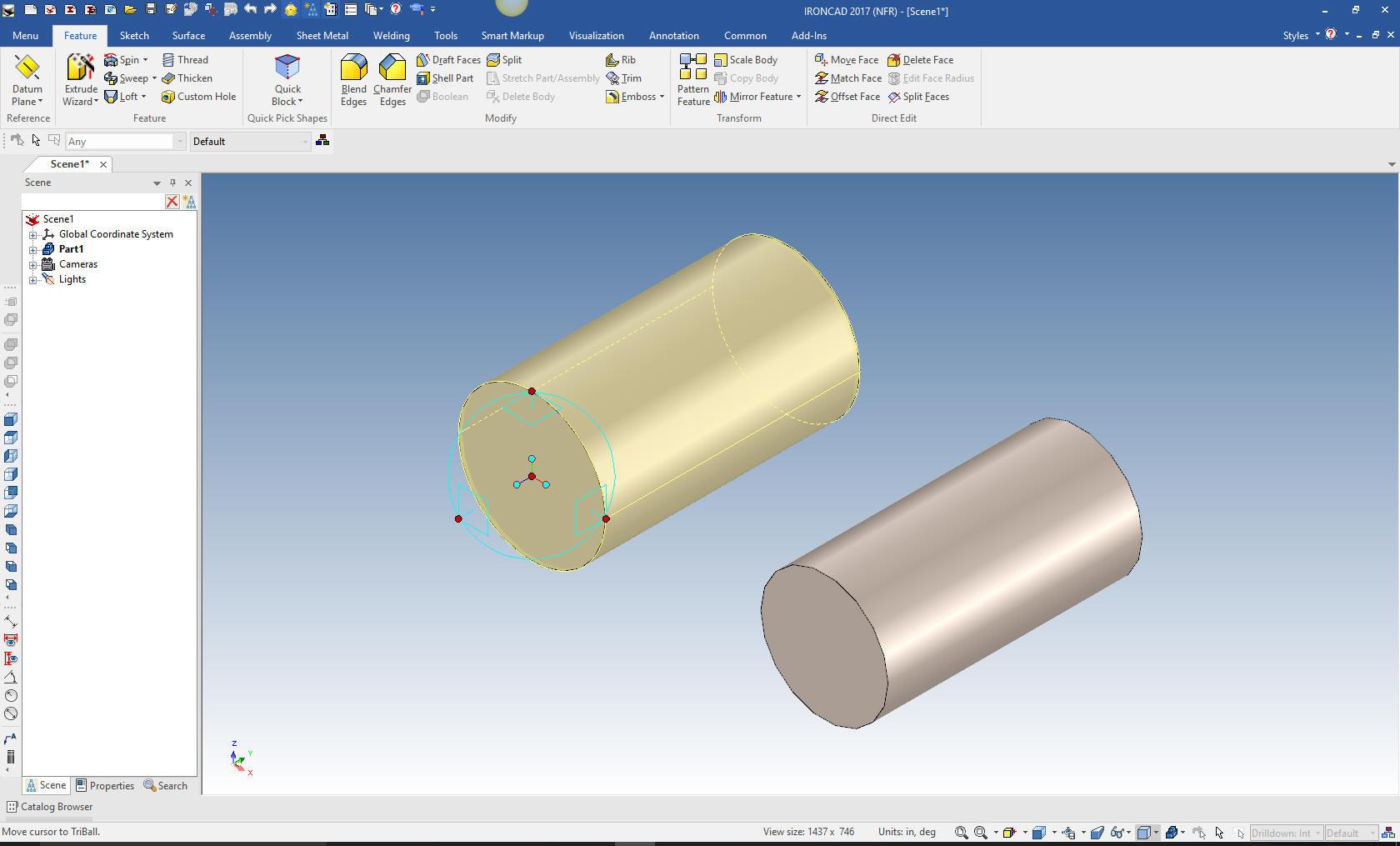 3D Modeling Techniques IronCAD Lesson One