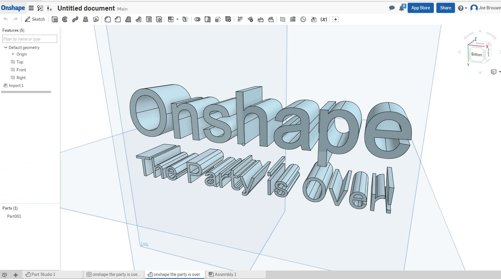 Onshape - The Party is Over!